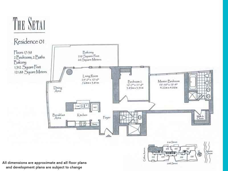 the setai floor plans | Unit 1