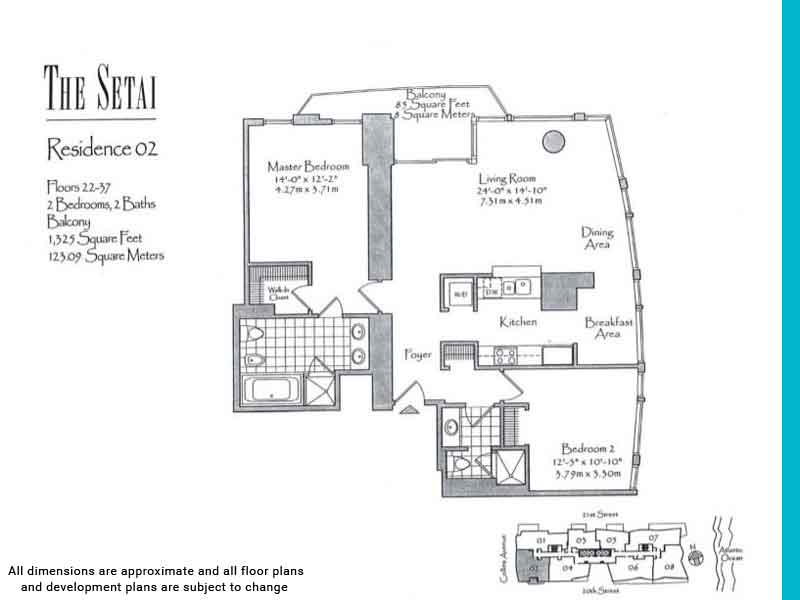 the setai floor plans | Unit 2