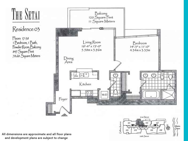 the setai floor plans | Unit 3