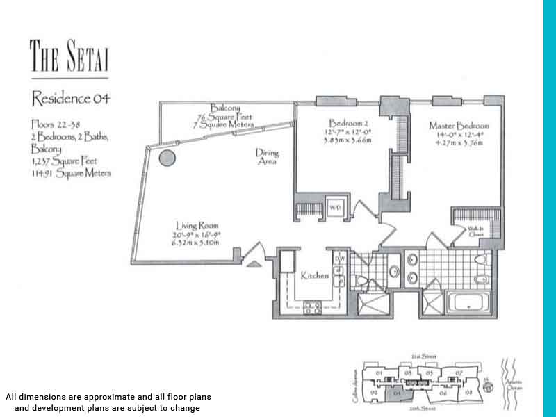 the setai floor plans | Unit 4