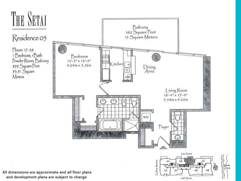 the setai floor plans | Unit 5
