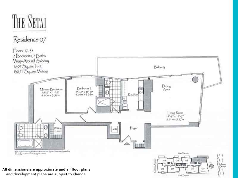 the setai floor plans | Unit 7